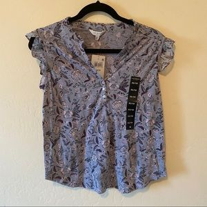 Lucky Brand Size XS Short Sleeve Button Shirt